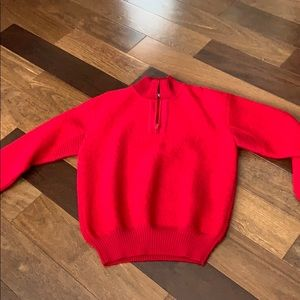 Men's red wool the north face sweater size xl